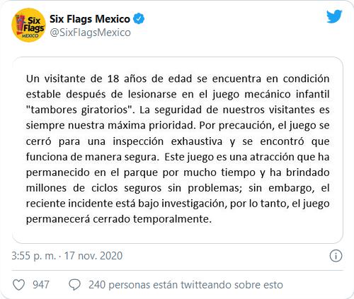 Screenshot_2020-11-18 JOVEN LESIONADO EN JUEGO MECÁNICO DE SIX FLAGS; SE ENCUENTRA ESTABLE - Radio y Televisión Mexiquense